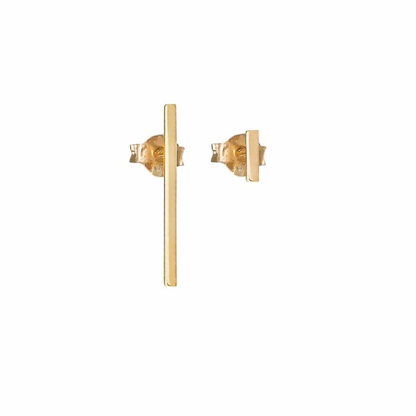 Thin Bar Earrings - Gold Plated