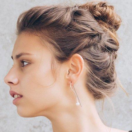 Dutch Basics Pearl Drop Earring - Silver