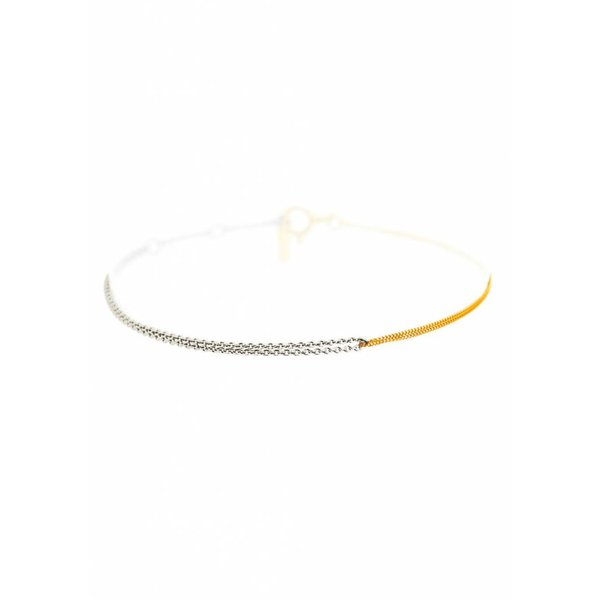 Interlinked Chain Bracelet - Silver & Gold Plated