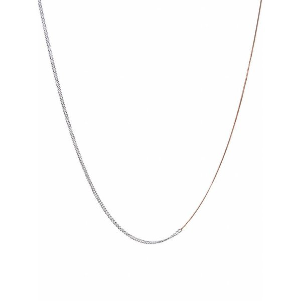 Interlinked Chain Necklace - Silver & Rose