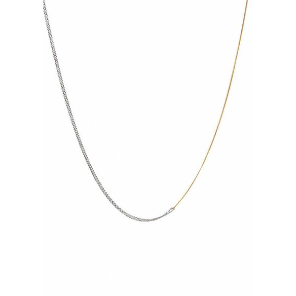 Interlinked Chain Necklace - Silver & Gold Plated