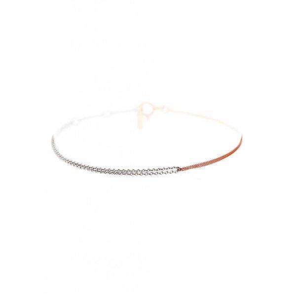 Interlinked Chain Bracelet - Silver & Rose-Plated