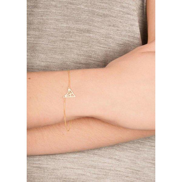 Triangle Bracelet 'HEF' - Gold-Plated
