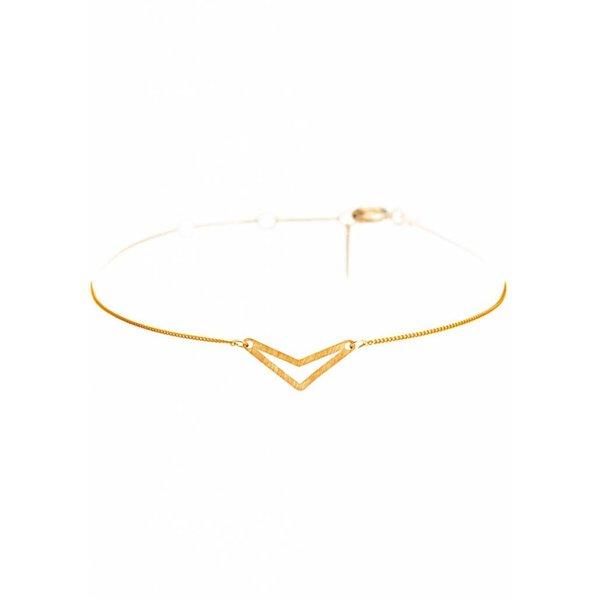 Triangle Bracelet 'TUI' _ Gold-Plated