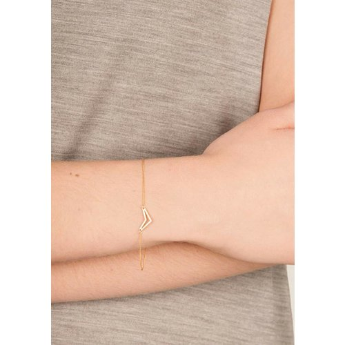 Dutch Basics Triangle Bracelet 'TUI' _ Gold-Plated