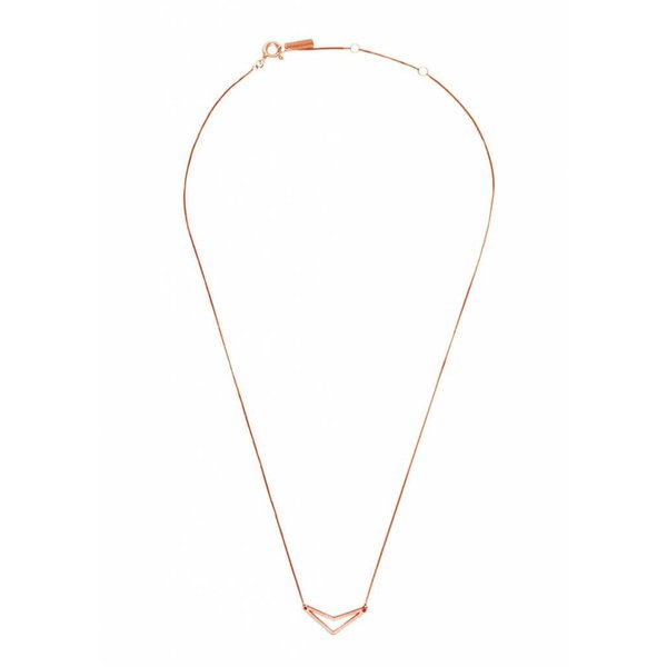 Triangle Necklace 'TUI' - Rose-Plated