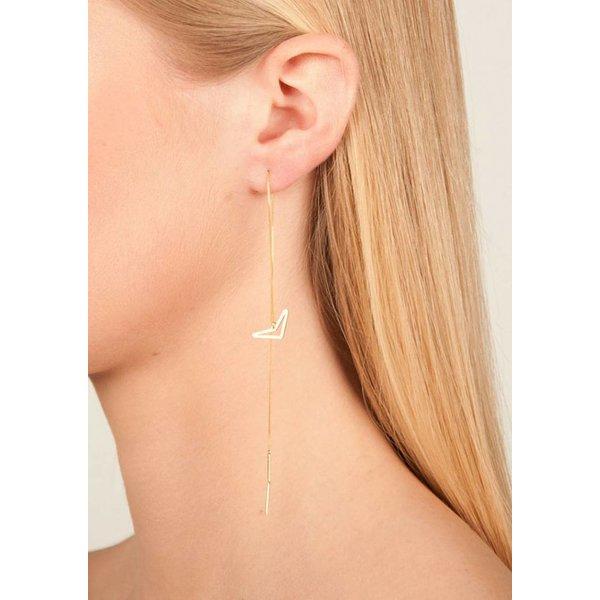 Rosé Triangle Drop Chain Earrings