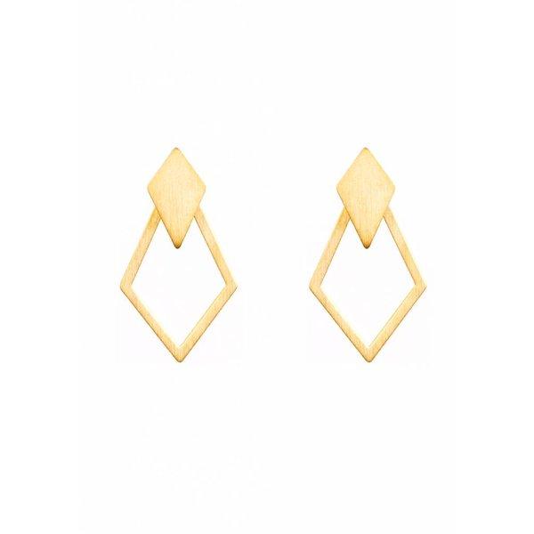 Detachable Earrings 'Ruit' - Gold-Plated