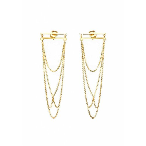 Dutch Basics Arch Earrings - Gold Plated