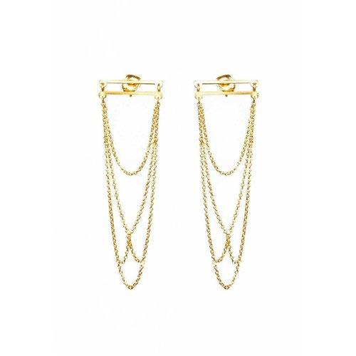 Dutch Basics Arch Earrings - Gold Plated