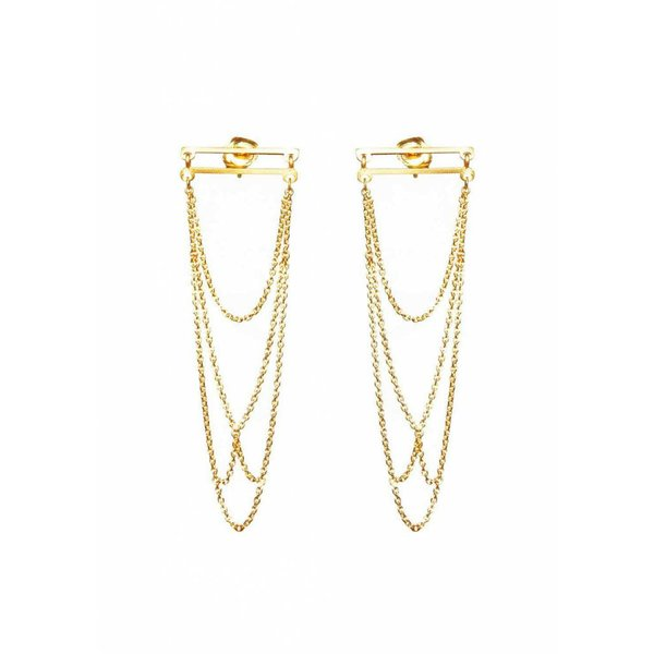 Arch Earrings - Gold Plated