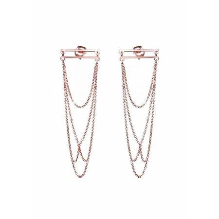Dutch Basics Arch Earrings - Rose Plated