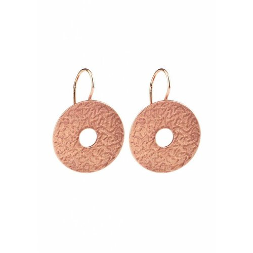 Dutch Basics Coins Earrings - Rose Plated