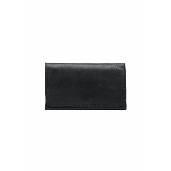 Minimal Leather Wallet - Black