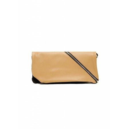 Dutch Basics Diagonal Leather Clutch - Nude