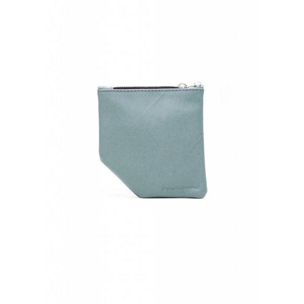 Small Diagonal Wallet - Blue