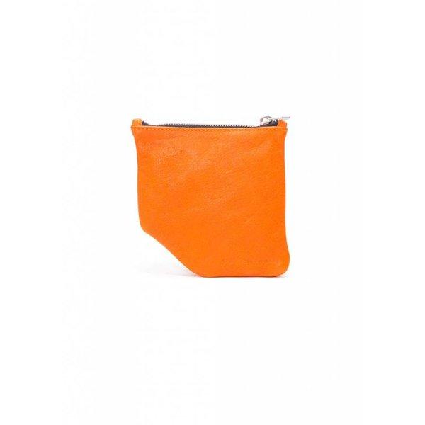 Small Diagonal Wallet - Orange