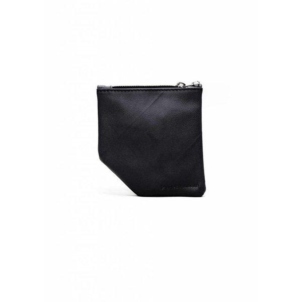 Small Diagonal Wallet - Black