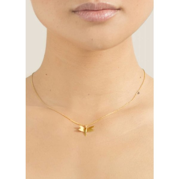 Dragonfly Necklace - Gold Plated