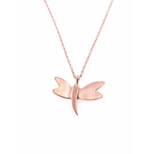 Dutch Basics Dragonfly Necklace - Rose Plated