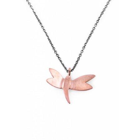 Dutch Basics Dragonfly Necklace - Oxidised and Rose