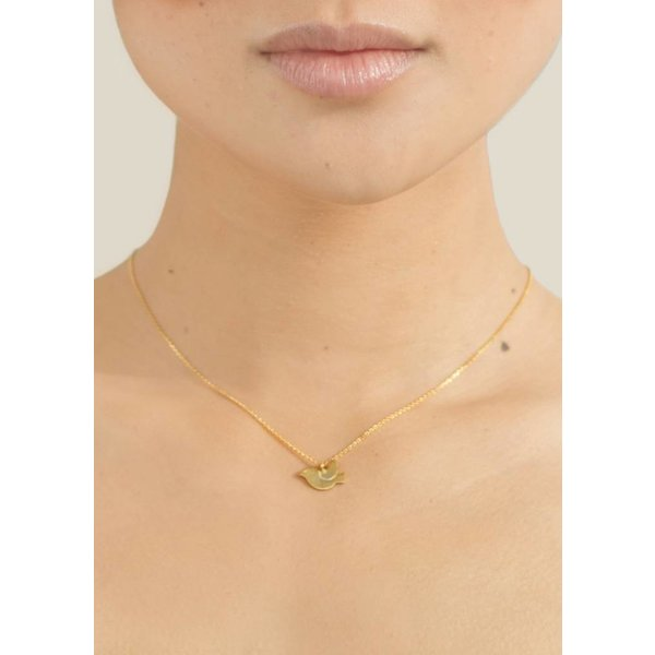 Bird Necklace - Gold Plated