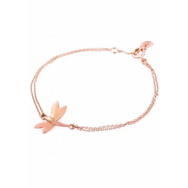 Dragonfly Bracelet - Rose Plated