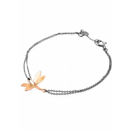 Dutch Basics Dragonfly Bracelet - Oxidised and Gold