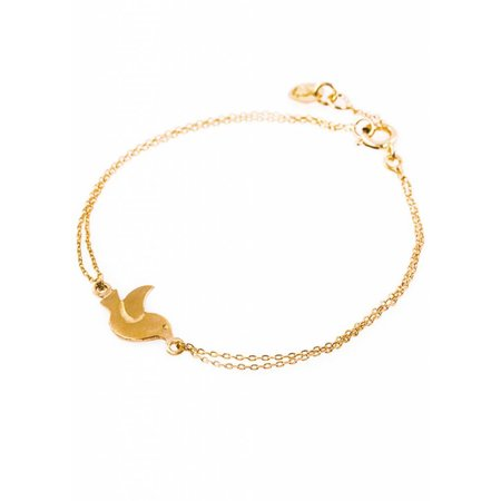 Dutch Basics Bird Bracelet - Gold Plated