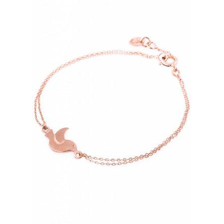 Dutch Basics Bird Bracelet - Rose Plated