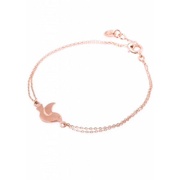 Bird Bracelet - Rose Plated