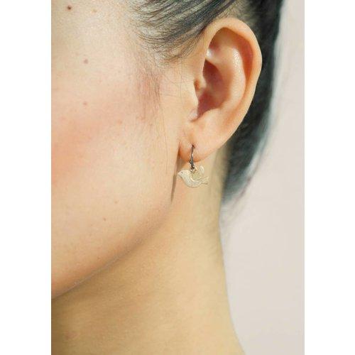 Dutch Basics Bird Earrings - Oxidised and Gold