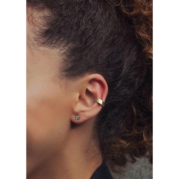 Mini Square Stud Earrings - Silver