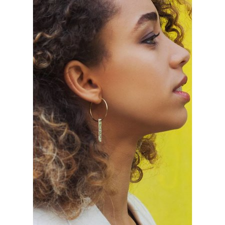 Dutch Basics Gold Plated Hoop Earrings