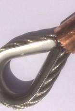 Rvs staalkabel 7x19 3mm met oog geklemd