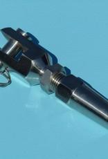 Doe het zelf terminal met gaffel voor kabel 5, 6 en 8mm