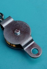 Gegalv. katrol met gelagerde messing schijf voor kabel 3-4 mm
