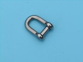 Rvs D-sluiting met inbus  AISI-316, diameter 5 mm t/m 10 mm