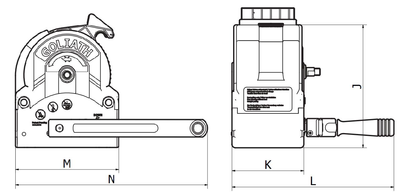 Boottrailer lier Goliath TS3000 trekken