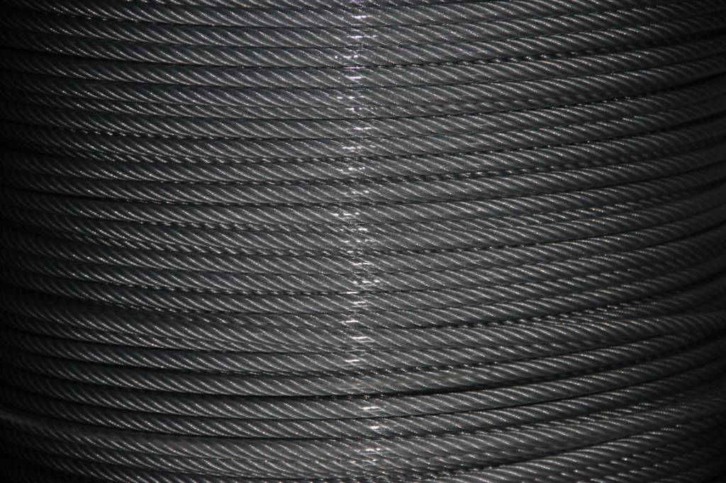 Rvs Staalkabel Transparant PVC omspoten 7x19, 250 mtr