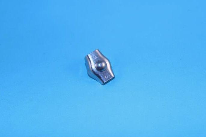 Rvs Simplexklem AISI-316, voor kabeldiameter 2 mm. t/m. 6 mm.
