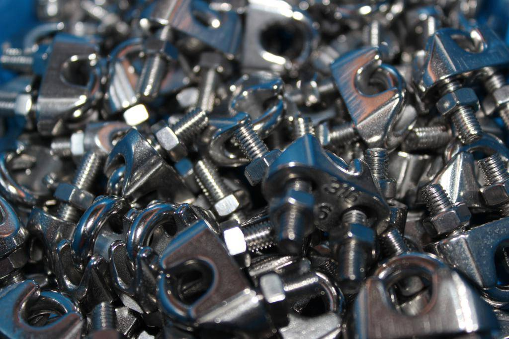 Rvs Draadklem AISI-316, voor kabeldiameter 2 mm. t/m. 16 mm.