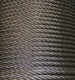 Rvs Staalkabel WS 6x36+stk. AISI-316, 250 meter haspel