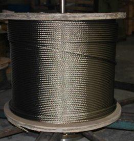 Rvs Staalkabel WS 6x36+stk. AISI-316,1000 mtr. haspel