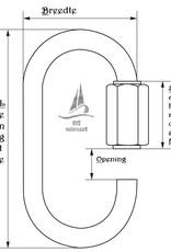 Rvs snelsluiting AISI-316, diameter 3 mm t/m 12 mm
