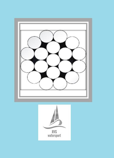 Rvs Staalkabel 1x19  (stug) AISI-316 per meter