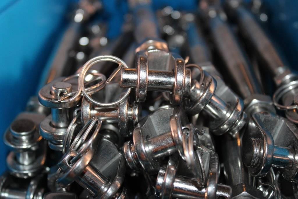 Rvs Spanschroef gaffel-gaffel AISI-316, M5 t/m M20