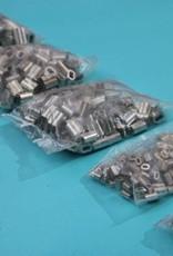 Tin / koperen 8-vormige persklem voor Rvs kabel, 0,8 mm t/m 8 mm