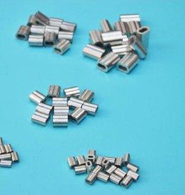 persklem voor staalkabel tin / koperen 8-vormig rvs kabel