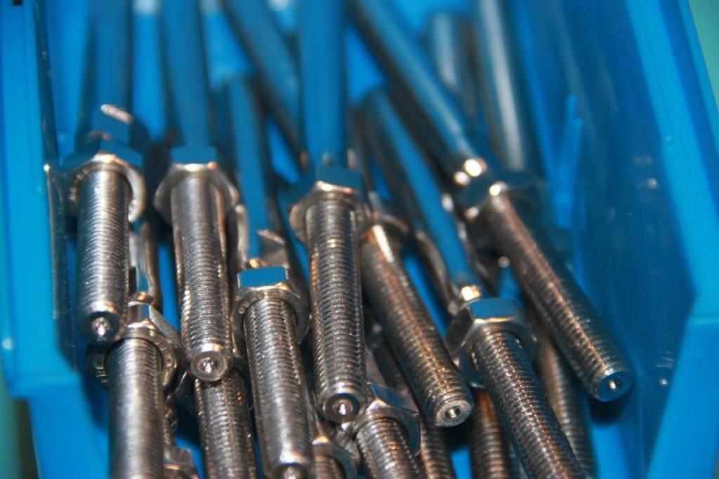 Rvs Studterminal links AISI-316, voor staalkabel 3mm t/m 12mm